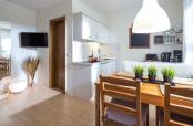 Wohnung Strandkrabbe Küche mit Essbereich
